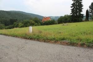 Stavební pozemek 1641m2 Stříbrná Skalice pro stavbu RD blízko lesa