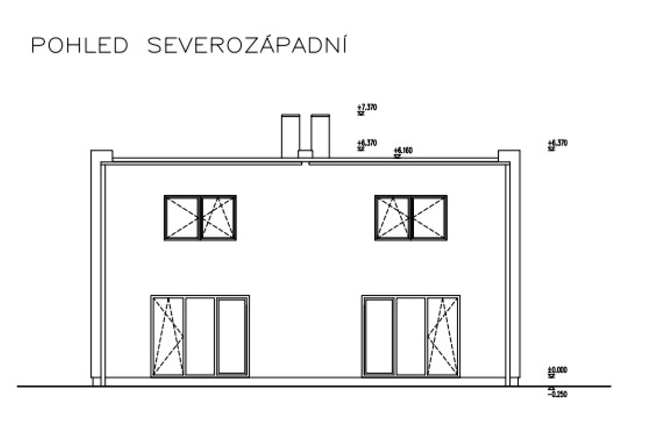 Rodinný dům 4+kk Králův Dvůr – Levín , novostavba RD ve fázi výstavby
